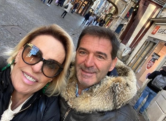 Ana Maria Braga e o marido, Johnny Lucet (Reprodução)