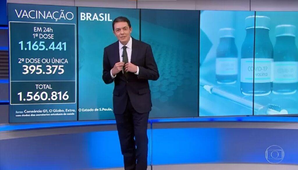 Alan Severiano no Jornal Nacional da Globo (Foto: Reprodução)