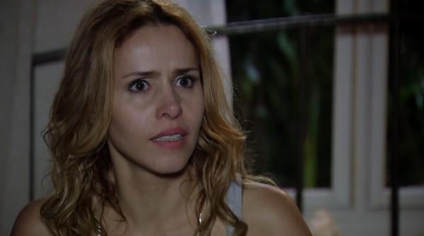 Celina (Leona Cavalli) se recusa a abortar (Reprodução/TV Globo)