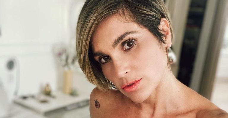 Flávia Alessandra muda o visual (Foto: Reprodução)
