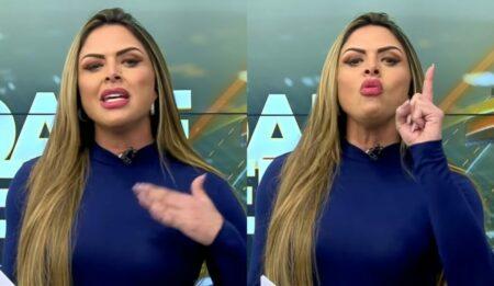 Silvye Alves no Cidade Alerta da Record (Foto: Reprodução)