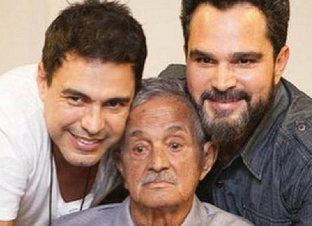 Zezé di Camargo e Luciano com seu pai, Francisco (Reprodução)