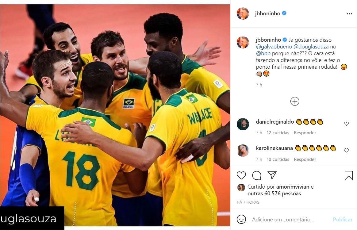 Boninho fala sobre Douglas no BBB 22 (Foto: Reprodução/Instagram)