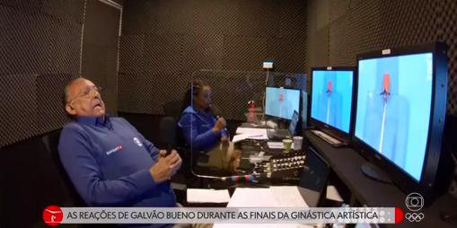 Galvão Bueno se emociona com prata de Rebeca Andrade (Foto: Reprodução)