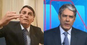 Apresentador William Bonner expôs mentira do Bolsonaro (Foto: Reprodução)