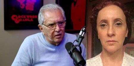 Apresentador Carlos Alberto esclareceu briga com Gorete Milagres, a Filó (Foto: Reprodução)