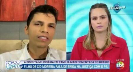 Roger Moreira em entrevista ao programa Fofocalizando (Foto: Reprodução)