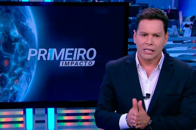 O famoso âncora do Primeiro Impacto do SBT, Marcão do Povo nega retorno para a Record (Foto reprodução)