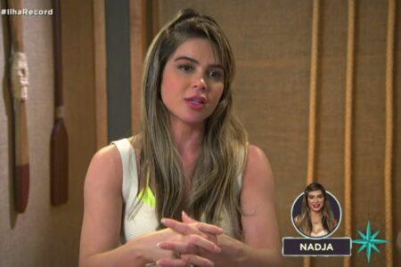 Ilha Record: Nadja perde a paciência após voto de Laura (Reprodução/Record)