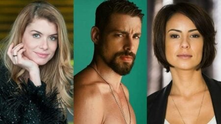 Alinne Moraes, Cauã Reymond e Andréia Horta estão no elenco de Um Lugar ao Sol, da TV Globo (Reprodução)