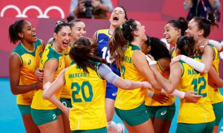 Semifinal do vôlei feminino nas Olimpíadas