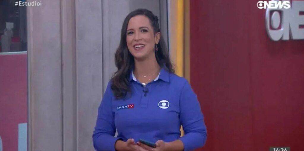 Lívia Laranjeira foi escalada para trabalhar, mas não ganhou uniforme completo da Globo (Foto: Reprodução)