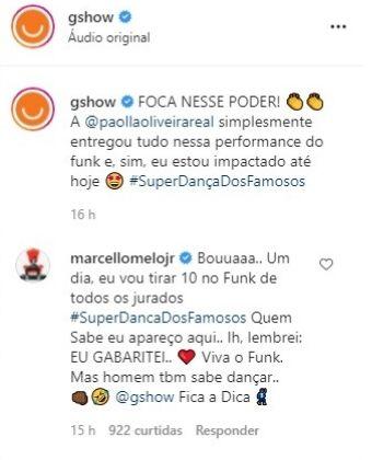 Marcello Melo Jr. aponta preferência a Paolla Oliveira na Super Dança e gera climão (Reprodução)