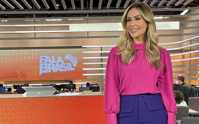 Thalita Oliveira no Fala Brasil (Foto: Reprodução)