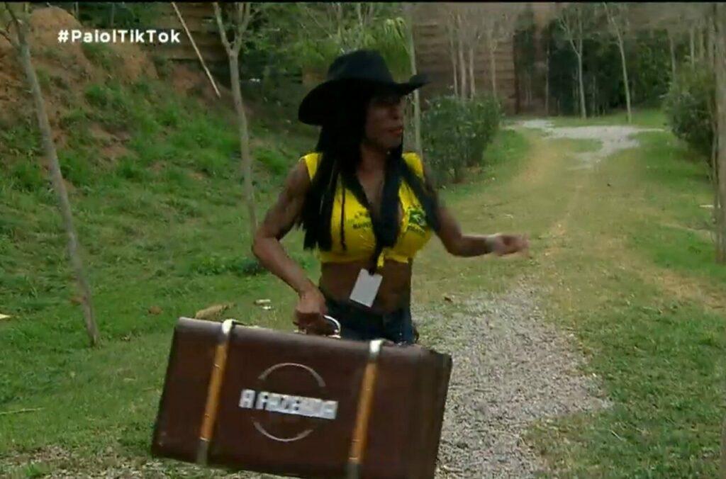 Inês Brasil entrou em A Fazenda (Reprodução/RecordTV)