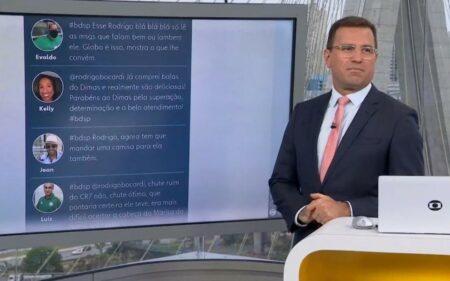 Rodrigo Bocardi rebateu telespectador no BDSP (Reprodução/Globo)