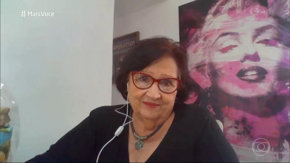 Déa Lúcia, mãe de Paulo Gustavo, foi convidada do Mais Você desta sexta-feira (Reprodução/Globo)