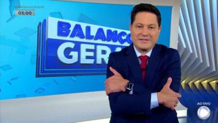O novo âncora do Balanço Geral Manhã, Eleandro Passaia derrubou a Record e SBT subiu com Coração Indomável (Foto: Reprodução)