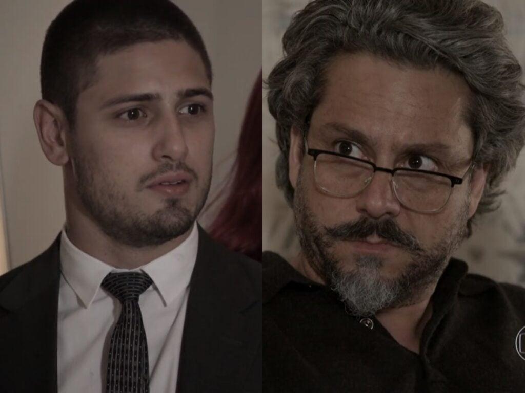 João Lucas (Daniel Rocha) e José Alfredo (Alexandre Nero) de Império (Reprodução - TV Globo)