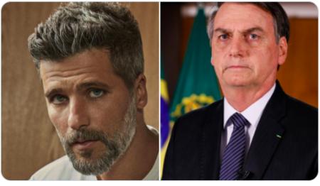 """Bruno Gagliasso detona Bolsonaro nas redes sociais: """"Arregou"""" (Reprodução)"""