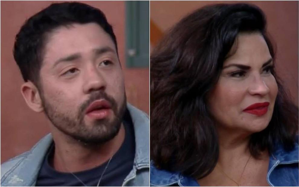 Rico e Solange Gomes discutem em A Fazenda 13 e situação sobra até para Mileide Mihaile (Foto: Reprodução)