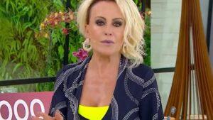 Ao vivo, Ana Maria Braga leva vácuo de convidado e se irrita (Reprodução/Globo)