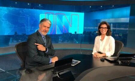 Coronavírus William Bonner da Globo e Renata Vasconcellos se vacinaram(Foto: Reprodução)