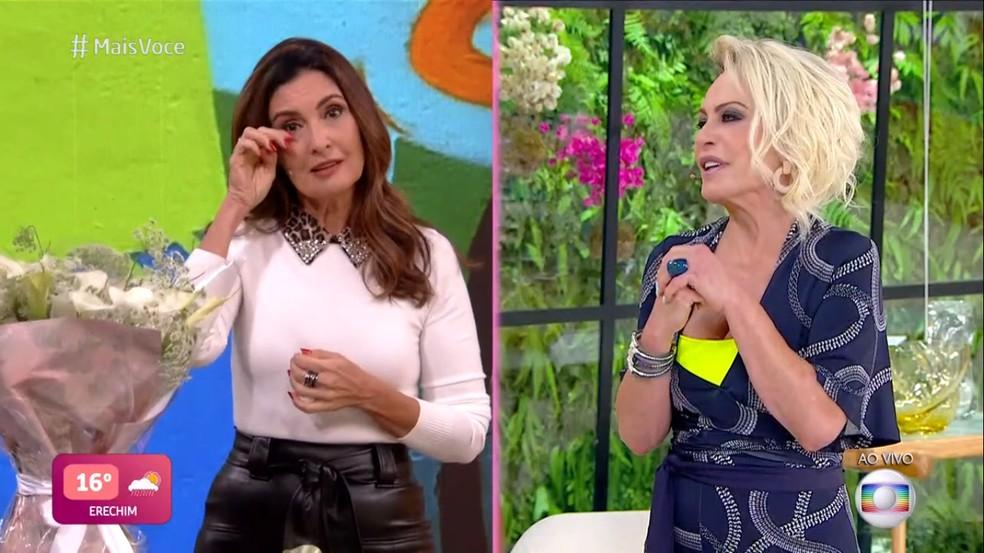 Fátima Bernardes e Ana Maria Braga na Globo (Foto: Reprodução)