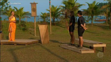 Desafio no Ilha Record (Foto: Reprodução) Pyong