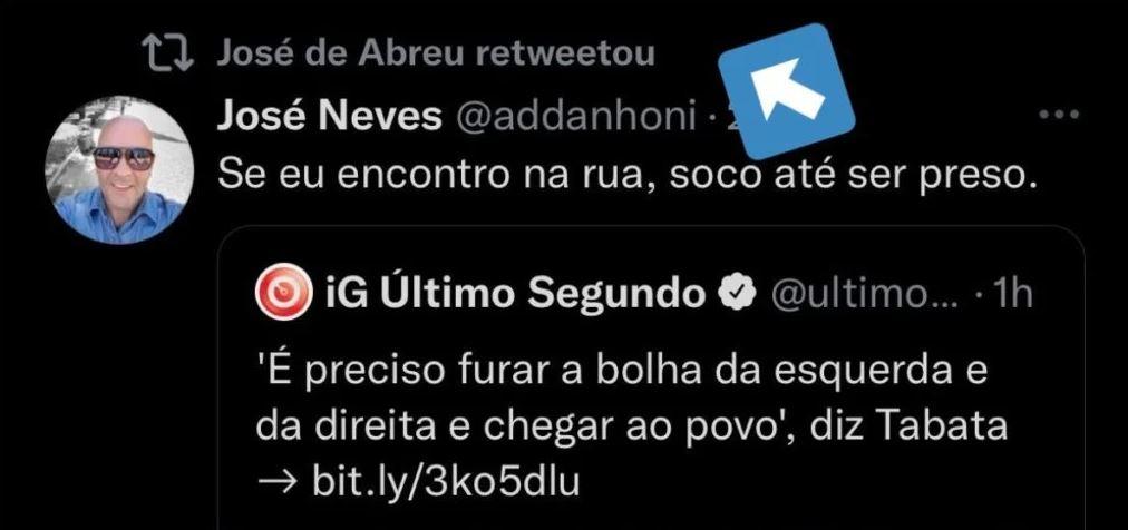 José de Abreu compartilha  publicação polêmica (Foto: Reprodução)