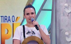 """No SBT, Ana Paula Renault detona Tiago Leifert: """"Ficou do lado de um pedófilo"""" (Reprodução/SBT)"""