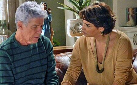 Beatriz (Suzy Rêgo) e Cláudio (José Mayer) em Império (reprodução/TV Globo)