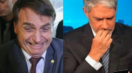 Bolsonaro debocha de Bonner e da Globo (Foto: Reprodução)