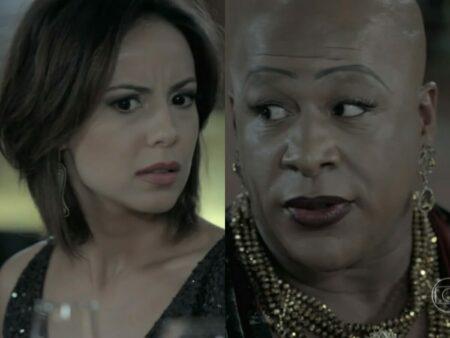 Maria Clara (Andreia Horta) e Xana (Ailton Graça) de Império (Reprodução - TV Globo)