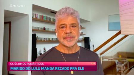 Lulu Santos cai no choro ao vivo após declaração do marido (Reprodução/Globo)