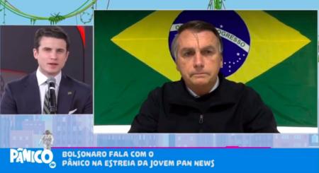 Ao vivo, Jair Bolsonaro abandona entrevista após pergunta sobre rachadinha (Reprodução/Jovem Pan)