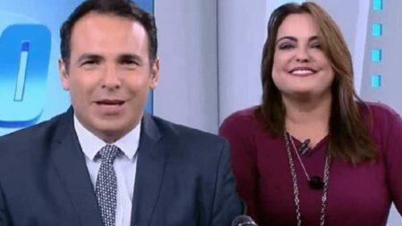 Reinaldo Gottino e Fabíola Reipert são proibidos de entrar na Record (Foto: Reprodução/Record)