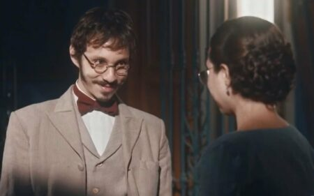 Nos Tempos do Imperador: Tonico pega Nélio e Dolores no flagra (Reprodução/Globo)