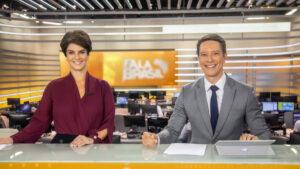 """Mariana Godoy e Sérgio Aguiar, apresentadores do """"Fala Brasil"""", da Record (Foto: Reprodução)"""