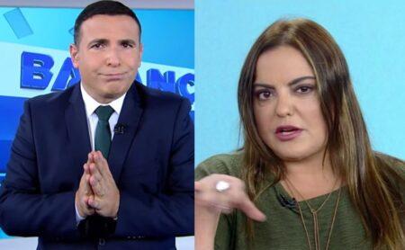 Gottino e Fabíola Reipert do Balanço Geral da Record (Foto: Reprodução)