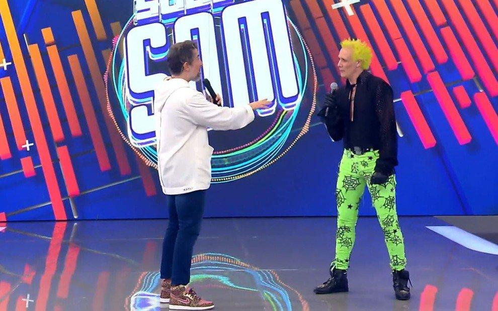 Marcos Mion leva alfinetada de Supla (Foto: Reprodução/Globo)