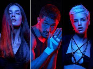 Angel (Camila Queiroz), Cristiano (Romulo Estrela) e Giovanna (Agatha Moreira) em Verdades Secretas II (Foto: Reprodução)